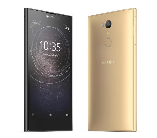 Sony Xperia L2 black and gold