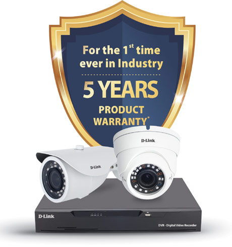D-Link extends 5 Years Warranty CCTV product