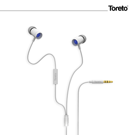 Toreto ROAR Stereo Earphone White TOR-260