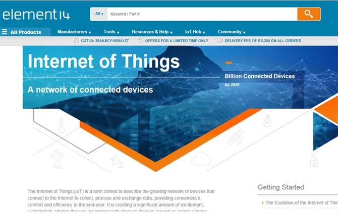 element14 IoT hub