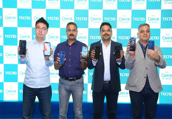 TECNO unveils new range of AI camera-centric smartphones