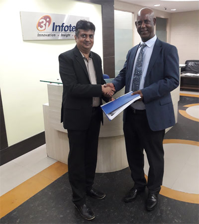 3i Infotech Africa Insurance Company signing deal