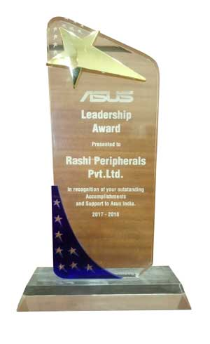 Rashi Peripherals Wins Distribution Leadership Award