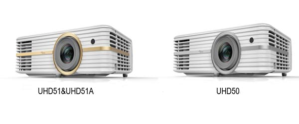 Optoma UHD51A UHD51 and UHD50 Projectors
