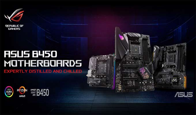 ASUS AMD B450 Series Motherboards
