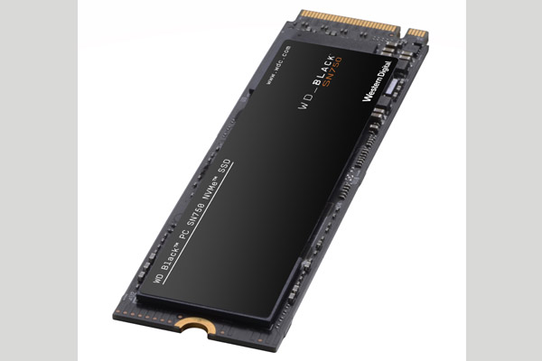 WD Black SN750 SSD without heatsink