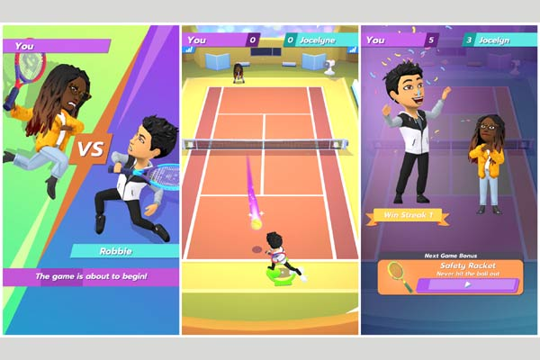 Bitmoji Tennis Gameplay Flow