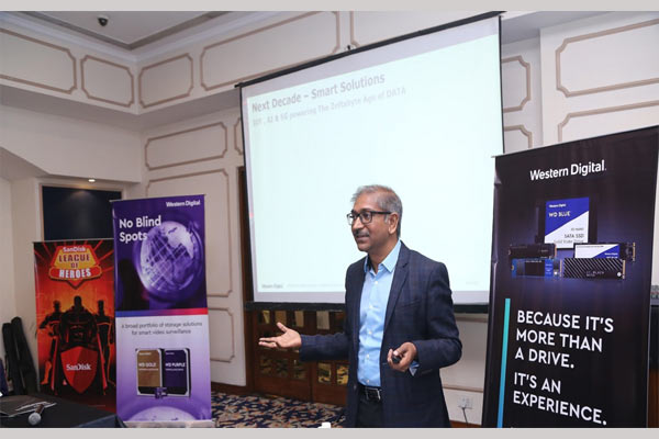 Jaganathan Chelliah, Director Channel Marketing, Western Digital India at a channel brieifng event in Delhi